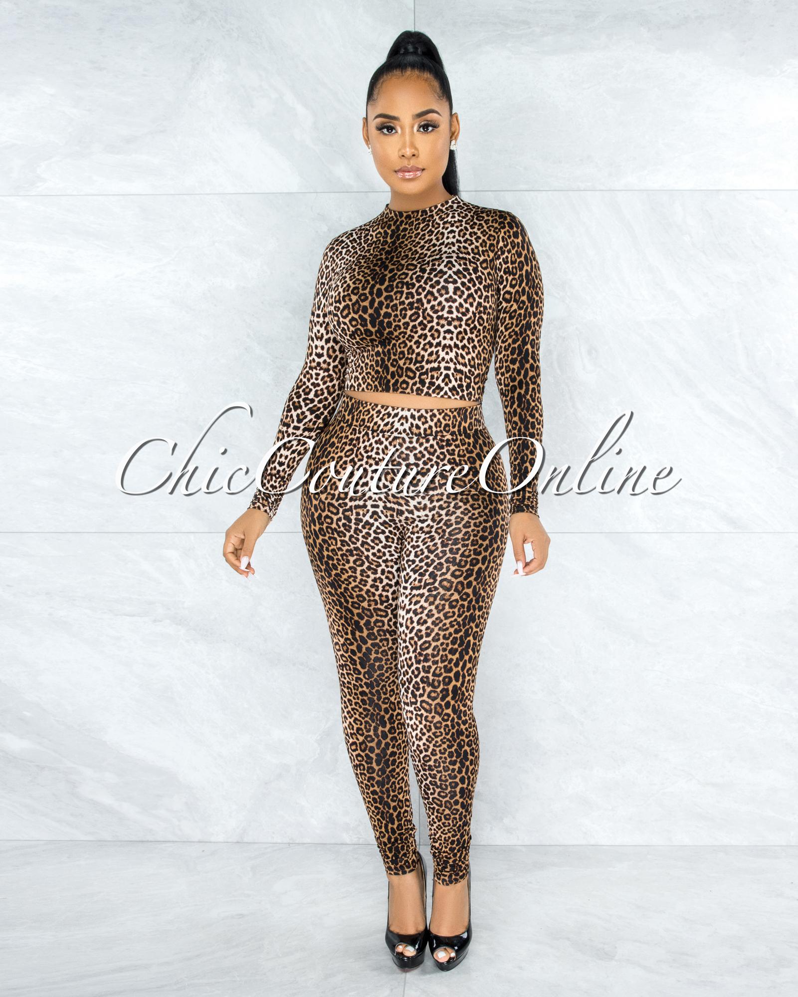 Saloma Leopard Print Leggings