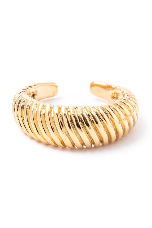 Lucy Gold Crescent Shape Open Band Ring