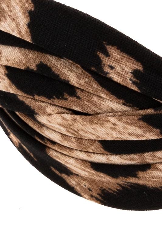Chantal Leopard Print Woven Headband