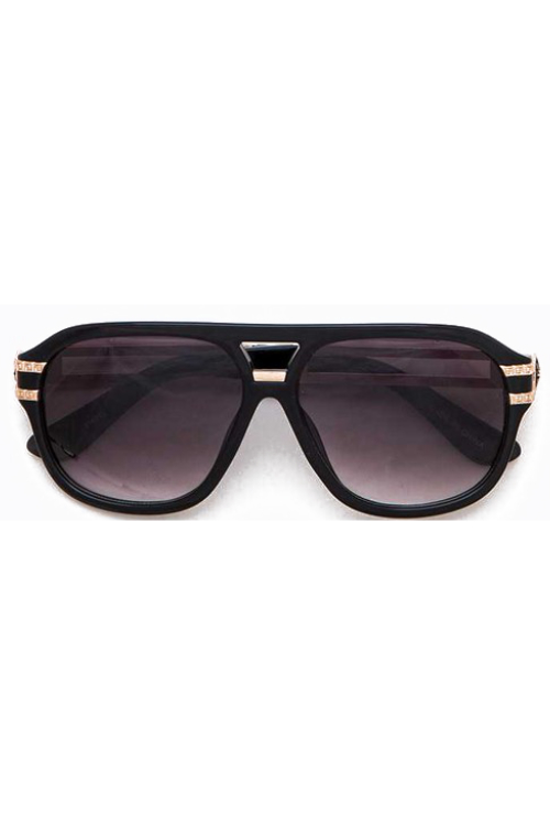 Sonja Black Aviator Sunglasses