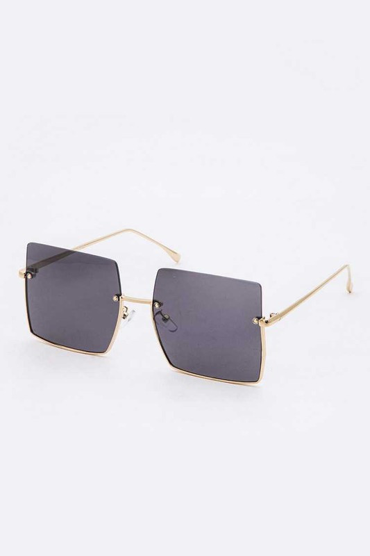 Jeremy Black Square Sunglasses