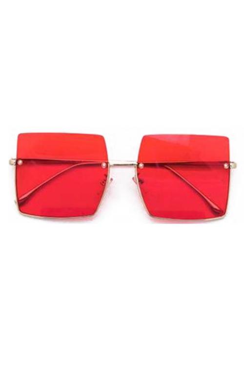 Jeremy Red Square Sunglasses