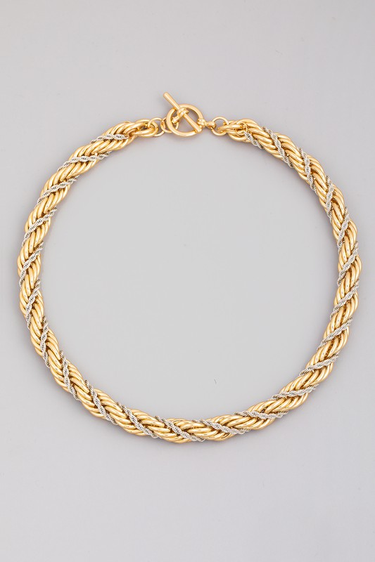 Joyce Gold Toggle Rope Chain Necklace
