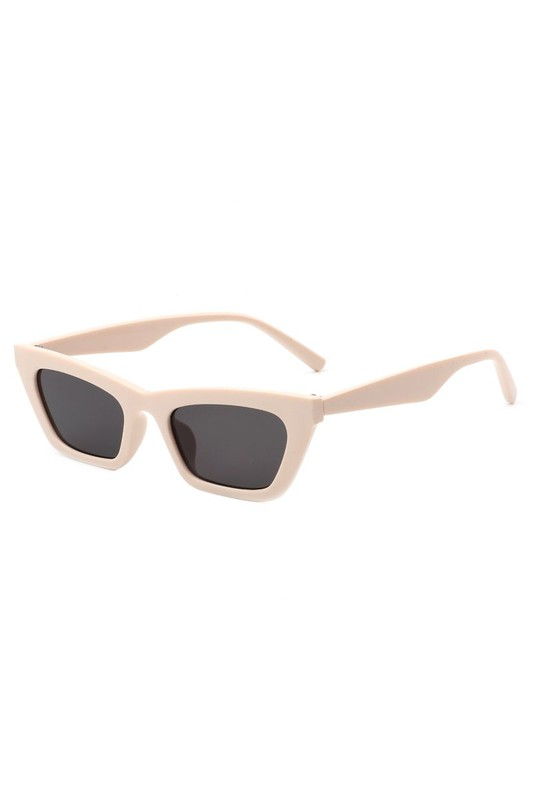Camilla Blush Retro Slim Cat Eye Sunglasses