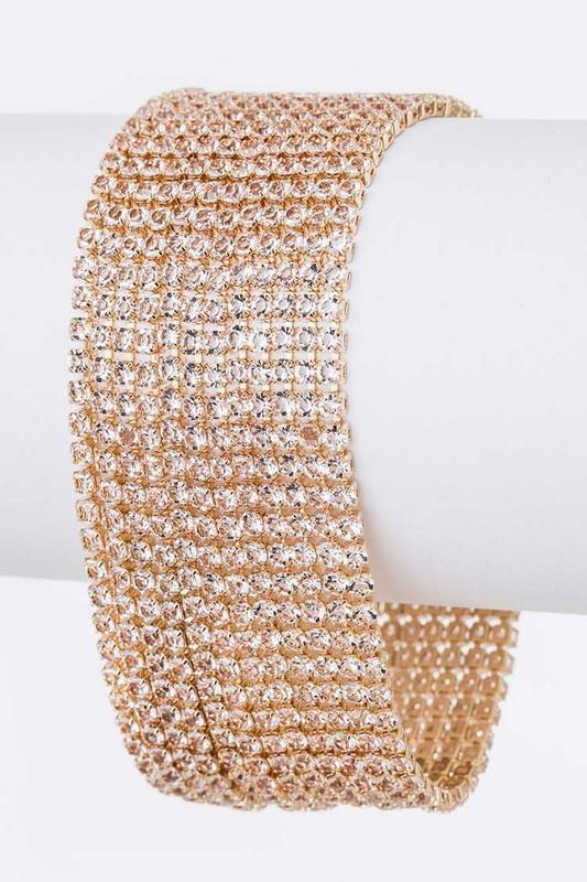 Alps Gold Layered Rhinestone Bracelet