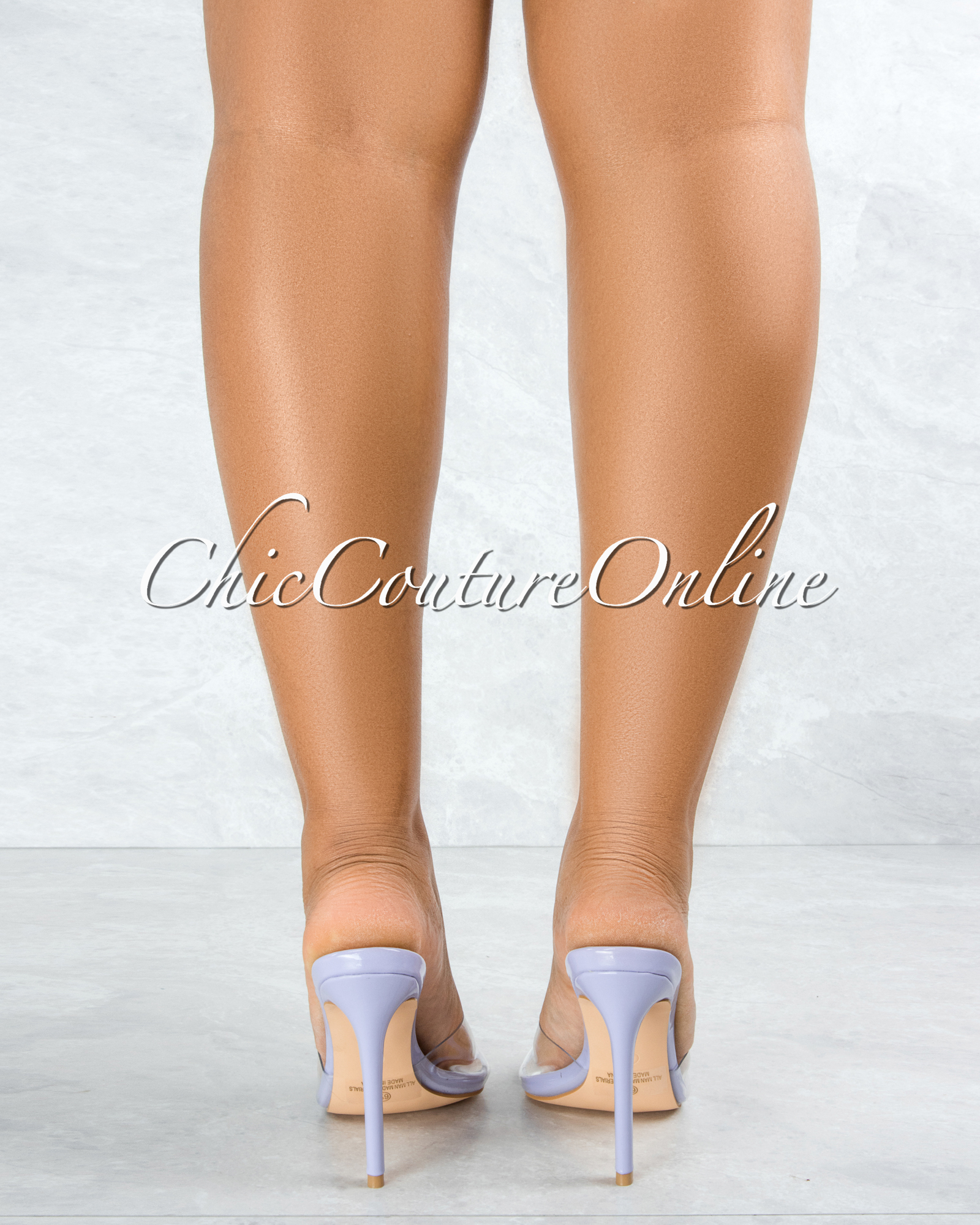 Echo Lilac Sole Clear Upper Pointed Toe Heels