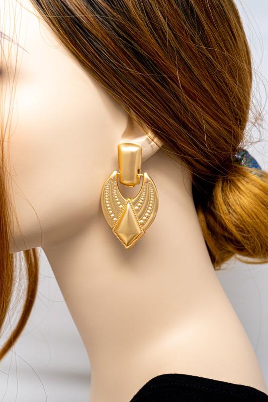 Mildred Gold Door Knocker Earrings