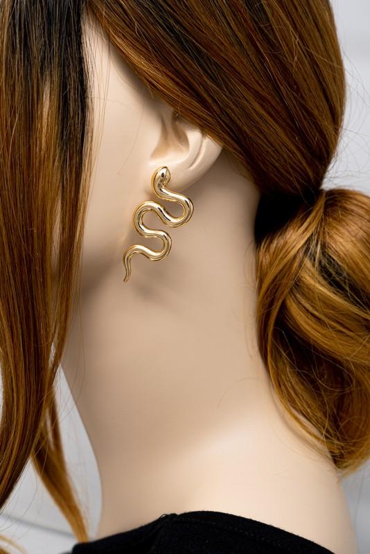 Rachel Gold Snake Earrings