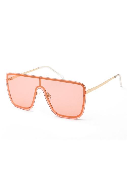 Aleks Orange Oversize Square Sunglasses