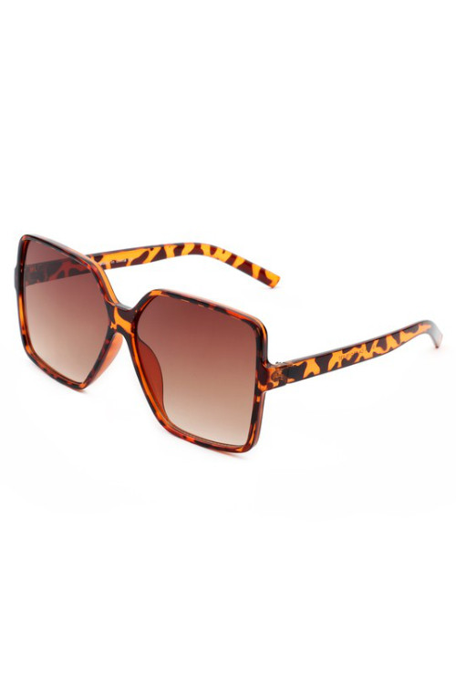 Tiva Brown Tortoise Square Oversize Sunglasses