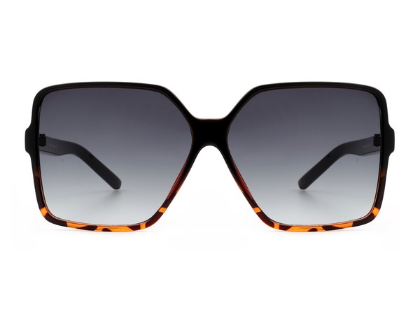 Tiva Black Tortoise Square Oversize Sunglasses