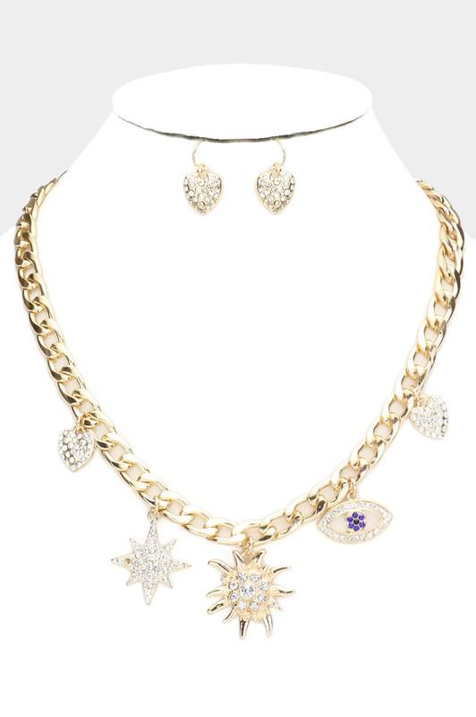 Janessa Gold Star Evil Eye Necklace