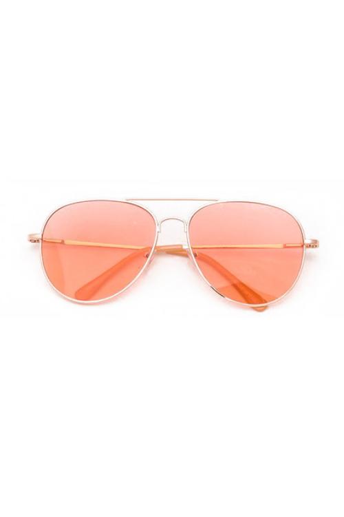 Pedro Orange Aviator Sunglasses