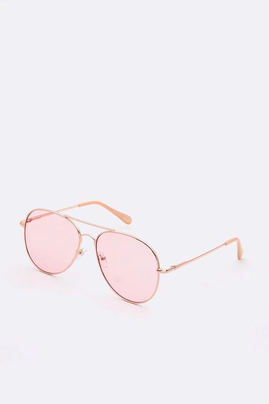 Pedro Light Pink Aviator Sunglasses