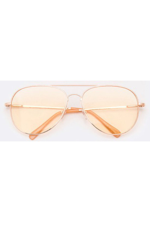 Pedro Light Yellow Aviator Sunglasses