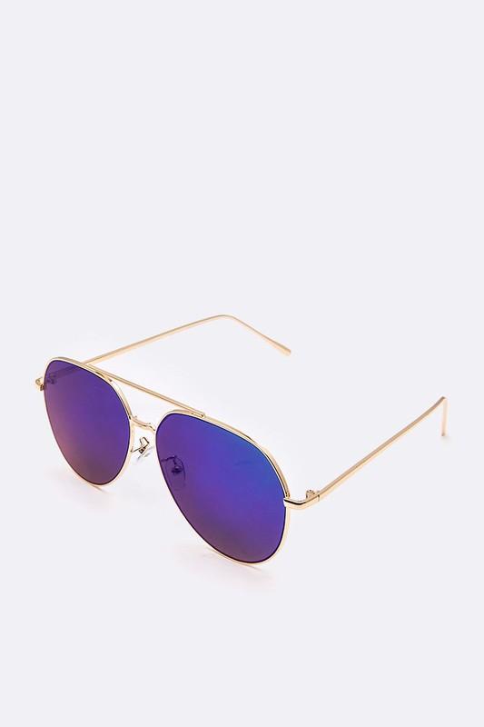 Yanina Purple Aviator Sunglasses