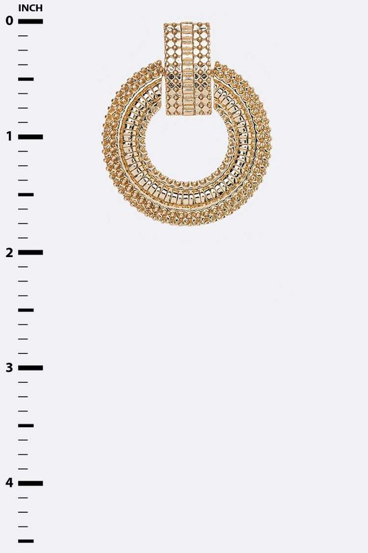 Anahi Gold Metal Iconic Post Earrings