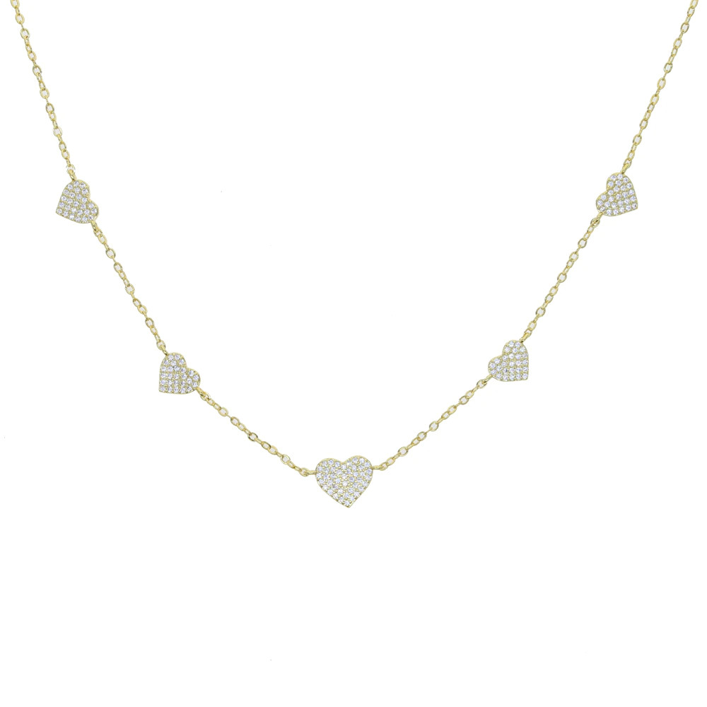Christine Gold Delicate Heart Pendant Necklace