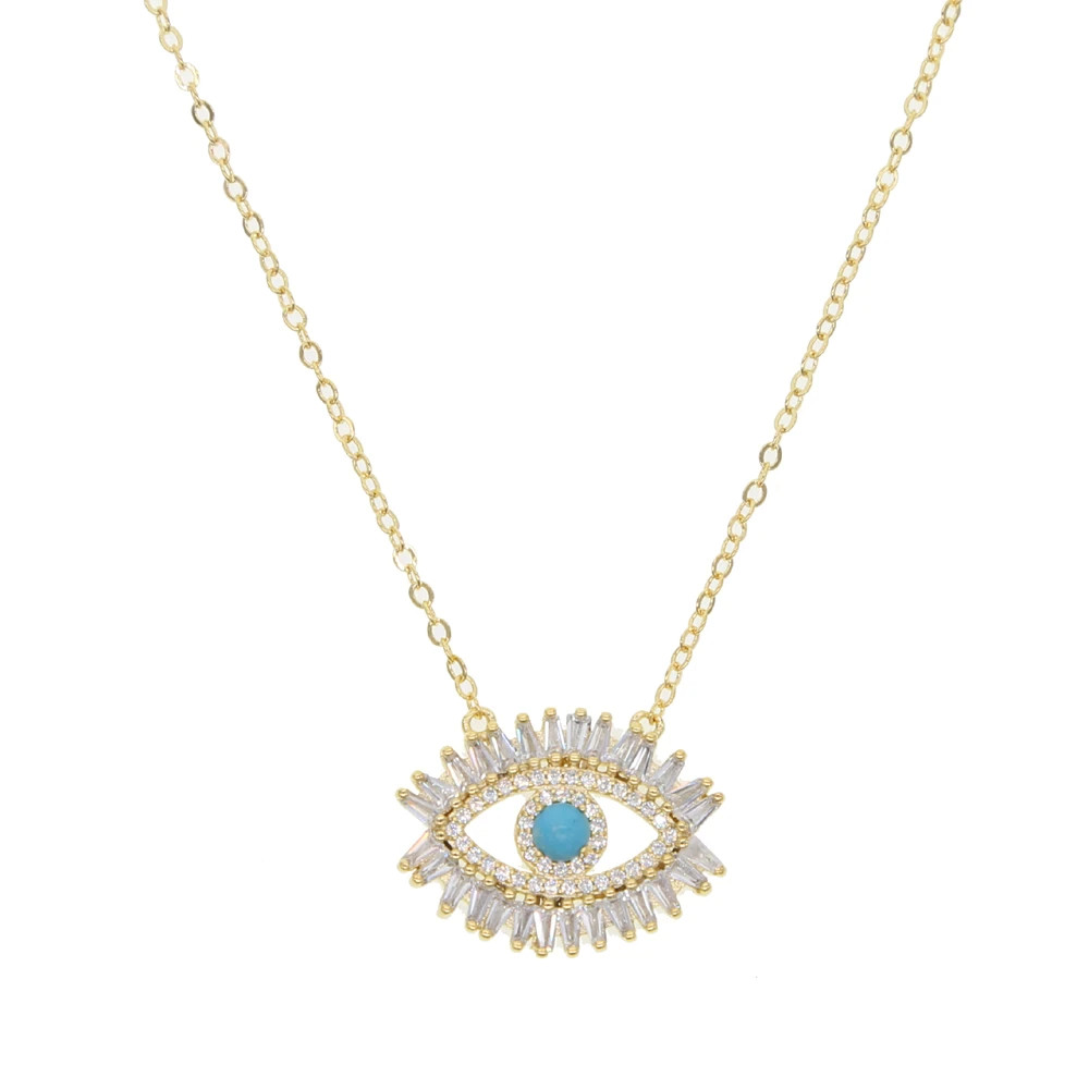 Mariano Gold Blue Evil Eye Charm Necklace
