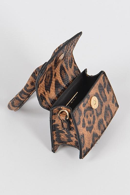 Chadra Leopard Single Top Handle Mini Bag