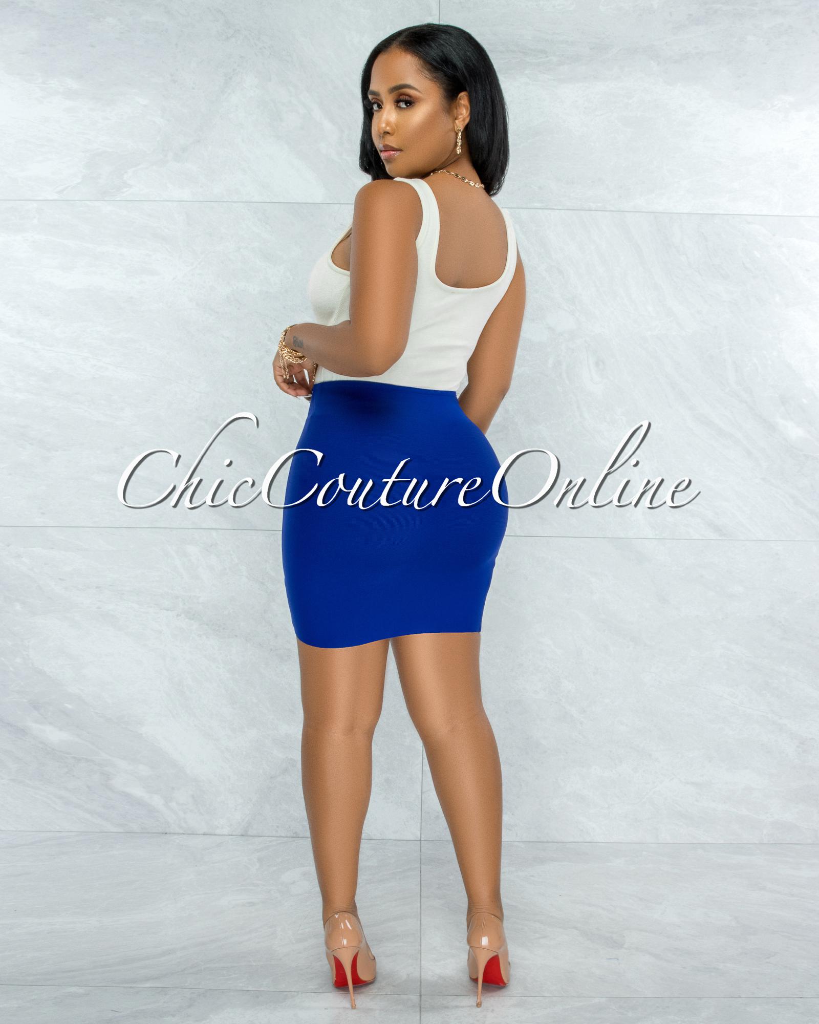 Ximena Ivory Ribbed Trim Details Bodysuit