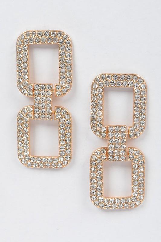 Haze Gold Rhinestone Earrings
