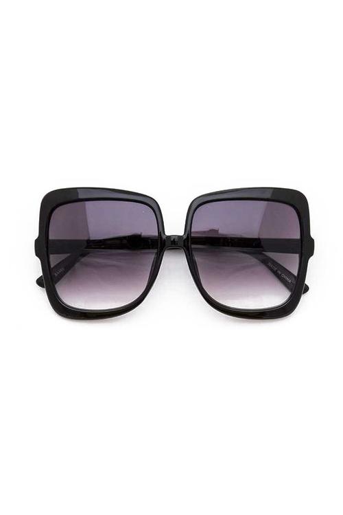 Tasha Black Oversize Square Mix Tint Sunglasses