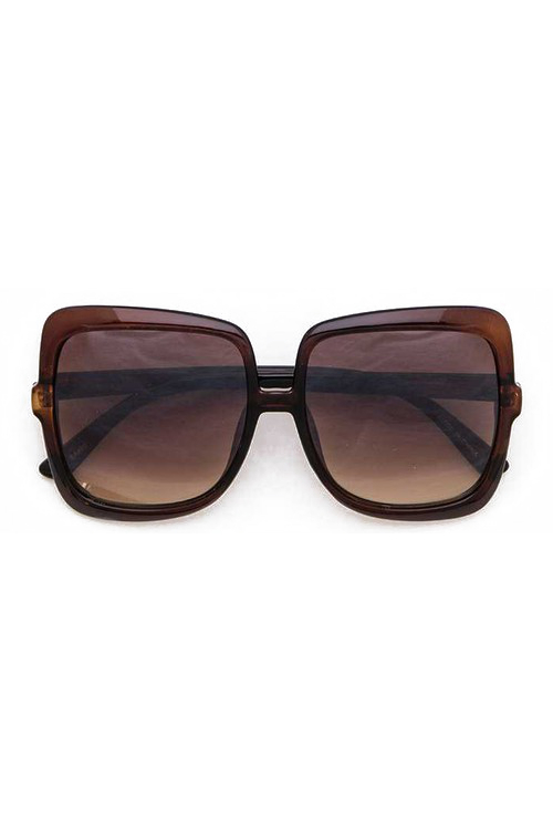 Tasha Brown Oversize Square Mix Tint Sunglasses