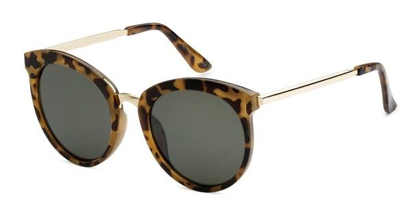 BB - Big Tortoise Frame Green Lens Sunglasses