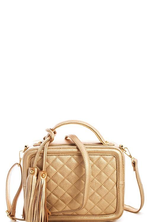 Marni Gold Quilted Shoulder Bag