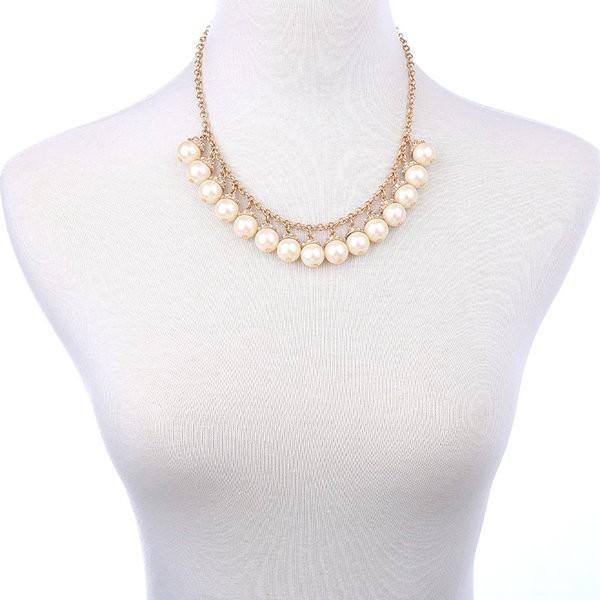 Mateo Golden Elegant Pearl Bead Necklace