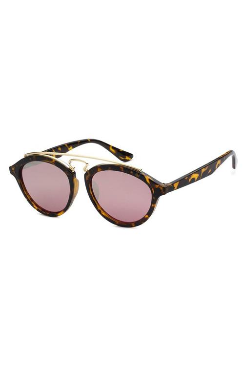 TBAR Tortoise Mirrored Silver Lens Sunglasses