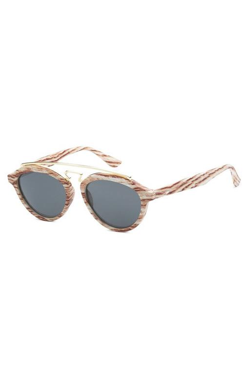 TBAR Mahogany Wood Like Lens Sunglasses