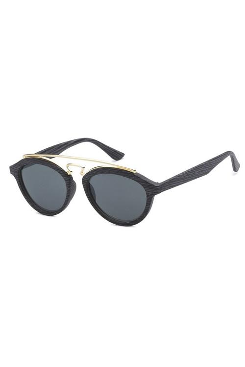TBAR Dark Wood Like Lens Sunglasses