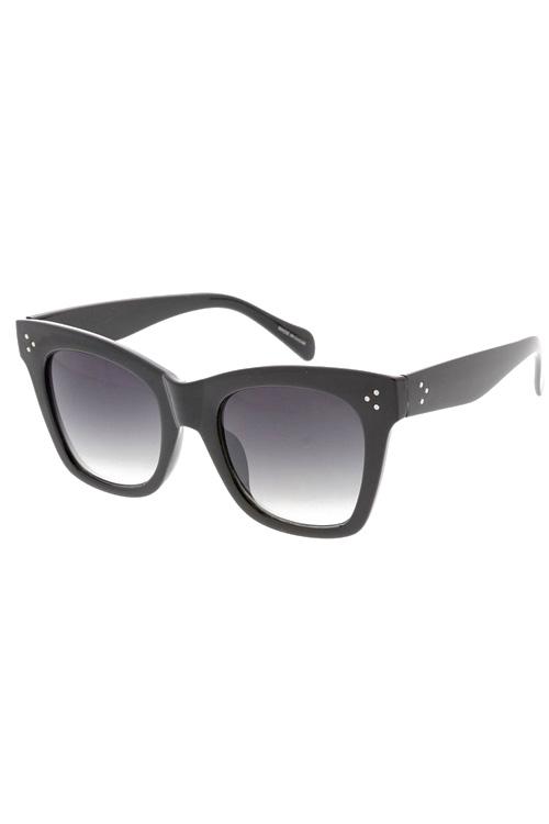 Jessa Black Frame Gradient Lens Sunglasses