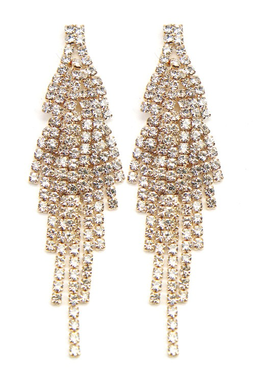 Tami Crystal Pavé Statement Drop Dangle Earrings