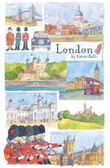 London by Emma Ball Tea Towel