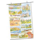 The Highlands by Emma Ball Tea Towel