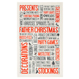 100% cotton Festive Fun Tea Towel from Victoria Eggs.