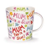 Mum You're a Star fine bone china mug  in Dunoon's Lomond Shape