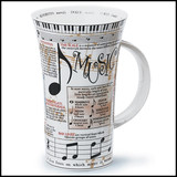 Bone china Dunoon Glencoe music mug
