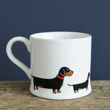Dachsund pottery mug from Sweet William Designs.