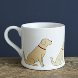 Golden retriever pottery mug from Sweet William Designs.