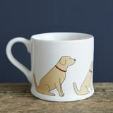 Golden retriever pottery mug from Sweet William Designs.