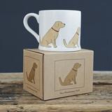 Boxed golden retriever mug from Sweet William designs.
