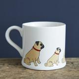 Pottery pug mug from Sweet William Designs.
