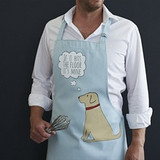 Organic cotton yellow labrador apron from Sweet William Designs.