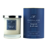 Bergamot & Soft Rose glass candle from Marmalade of London.