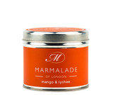 Mango & Lychee medium tin candle from Marmalade of London.