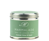 Tuscan Lime & Basil medium tin candle from Marmalade of London.